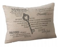 Christian Key Wedding Ring Cushion
